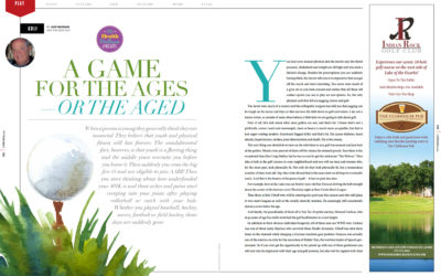 Golf: A Game for the Ages — or the Aged