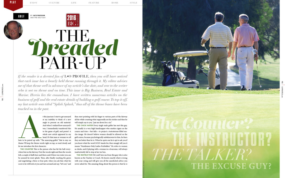 "Golf – The Dreaded ""Pair UP"""