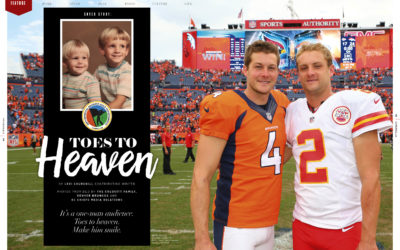 Dustin and Britton Colquitt- Toes to Heaven