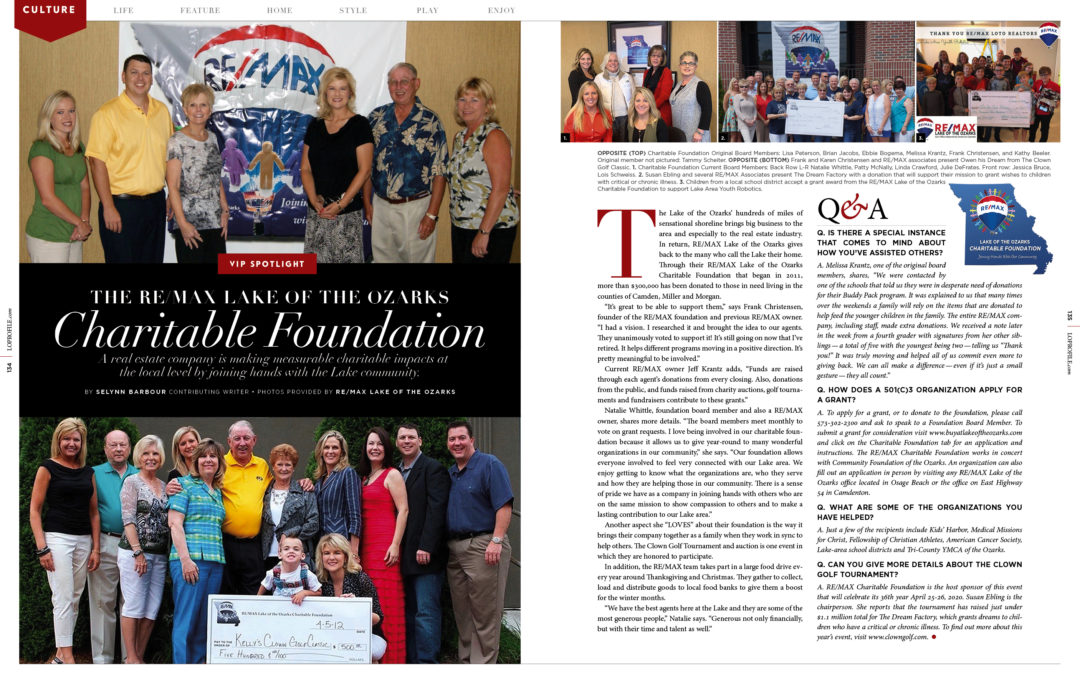 VIP Spotlight: THE RE/MAX LAKE OF THE OZARKS Charitable Foundation