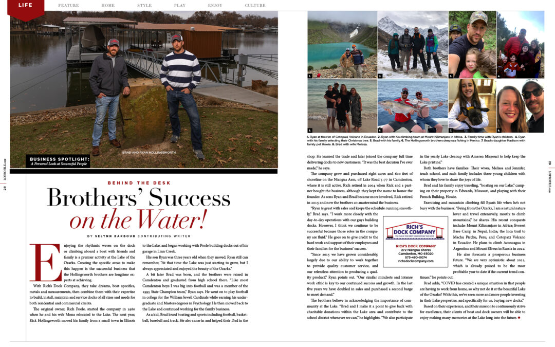 Business Spotlight: Brother's Success on the Water